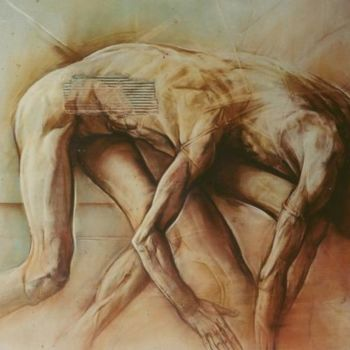 Drawing, figurative, artwork by Claude Duvauchelle