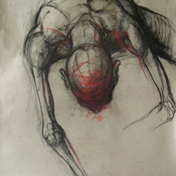 Drawing, artwork by Claude Duvauchelle
