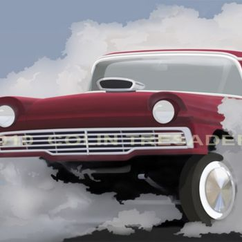 """Painting titled """"57 FORD GASSER."""" by Colin Tresadern, Original Art, Acrylic"""