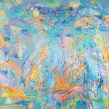 """Painting titled """"The women with the…"""" by Vitalie Coroban, Original Art, Oil"""