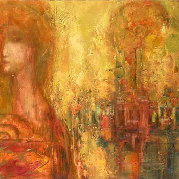 """Painting titled """"Looking for the past"""" by Vitalie Coroban, Original Art, Oil"""