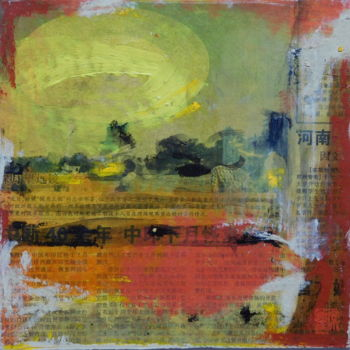 """Painting titled """"Levant"""" by Simone Cros-Morea, Original Art, Acrylic Mounted on Cardboard"""