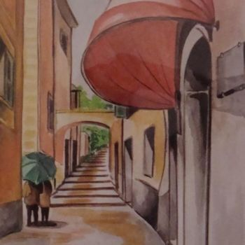 """Painting titled """"VICOLO di Lerici"""" by M.D-Agostino, Original Art,"""