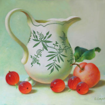 """Painting titled """"Still Life with Vin…"""" by Dace Lapina, Original Art, Oil"""