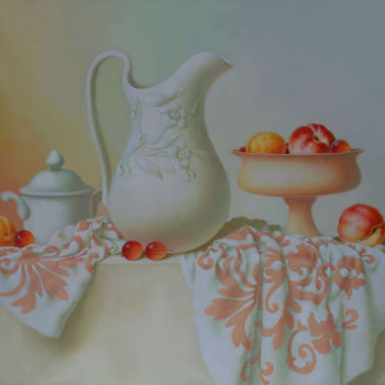 """Painting titled """"Still life with fru…"""" by Dace Lapina, Original Art, Oil"""