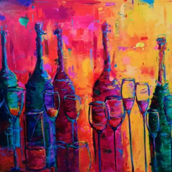 """Painting titled """"After the Party"""" by Dawn Underwood, Original Art, Acrylic"""