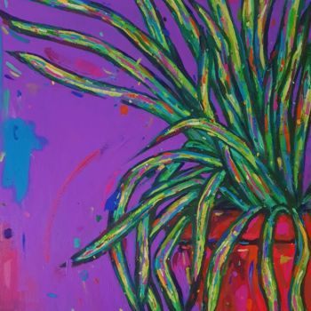 """Painting titled """"Spider Plant"""" by Dawn Underwood, Original Art, Acrylic"""