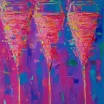 """Painting titled """"Pink Champagne"""" by Dawn Underwood, Original Art, Acrylic"""