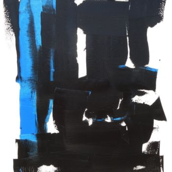 Painting, oil, abstract, artwork by Guy Delaroque