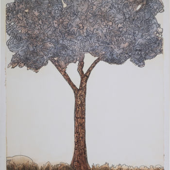 """Painting titled """"Tree"""" by Juan Del Balso, Original Art, Acrylic"""