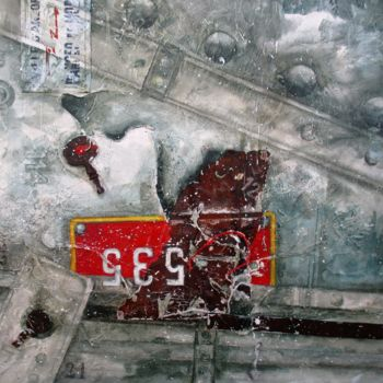 """Painting titled """"t-535-"""" by Patrick Demelenne, Original Art, Oil"""