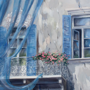 """Painting titled """"Quiet street"""" by Dita Luse, Original Art, Oil"""