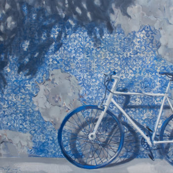"""Painting titled """"A Short Stop"""" by Dita Luse, Original Art, Oil"""