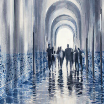 """Painting titled """"Alma Mater"""" by Dita Luse, Original Art, Oil Mounted on Stretcher frame"""