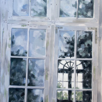 """Painting titled """"Old window"""" by Dita Luse, Original Art, Oil"""