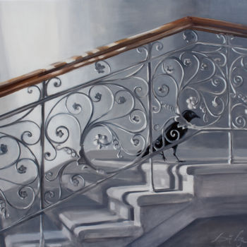 """Painting titled """"Guest"""" by Dita Luse, Original Art, Oil"""
