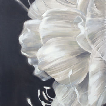 """Painting titled """"Amaryllis"""" by Dita Luse, Original Art, Oil Mounted on Stretcher frame"""