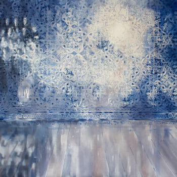 """Painting titled """"Memories and lights"""" by Dita Luse, Original Art, Oil Mounted on Stretcher frame"""