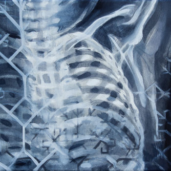 """Painting titled """"Creation II Inhale"""" by Dita Luse, Original Art, Oil Mounted on Stretcher frame"""