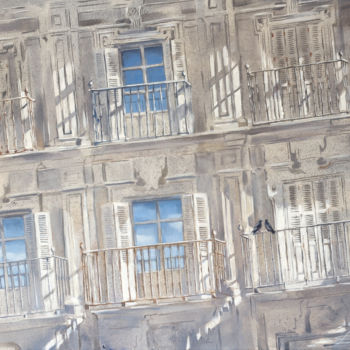 """Painting titled """"Sky in your window"""" by Dita Luse, Original Art, Oil Mounted on Stretcher frame"""