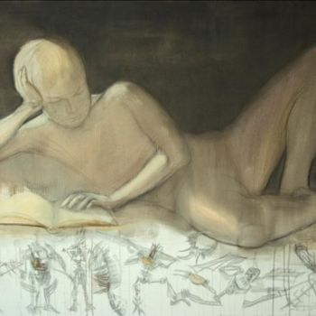 Painting, oil, artwork by Dita Luse