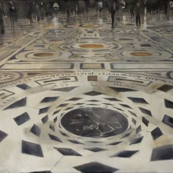 """Painting titled """"Florence floor"""" by Dita Luse, Original Art,"""