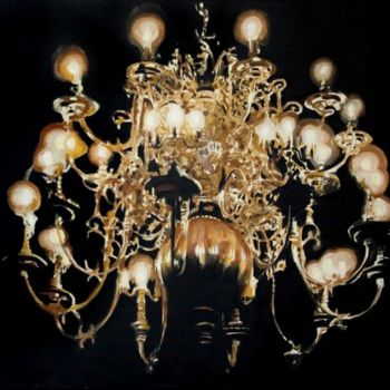 """Painting titled """"Chandelier"""" by Dita Luse, Original Art, Oil"""