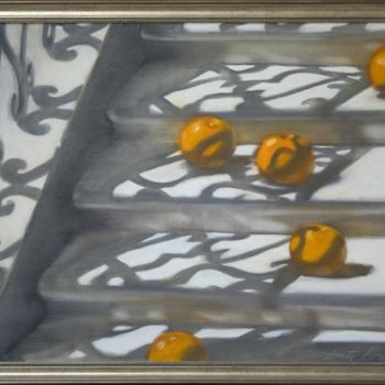 """Painting titled """"Rolling oranges"""" by Dita Luse, Original Art,"""