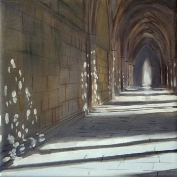 """Painting titled """"Cloister"""" by Dita Luse, Original Art,"""