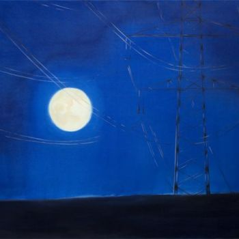 """Painting titled """"Full moon 1"""" by Dita Luse, Original Art, Oil"""