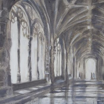 """Painting titled """"Morning in cloister"""" by Dita Luse, Original Art, Oil"""