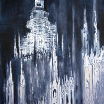 """Painting titled """"Towers"""" by Dita Luse, Original Art,"""