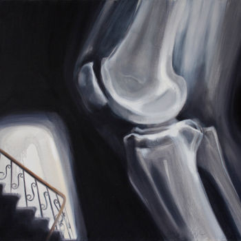 """Painting titled """"Stairs"""" by Dita Luse, Original Art, Oil"""