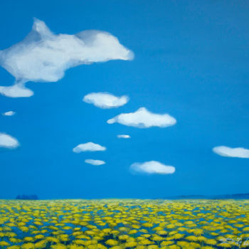 """Painting titled """"Dandelions I"""" by Dita Luse, Original Art, Oil"""