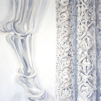 """Painting titled """"Columns"""" by Dita Luse, Original Art, Oil"""