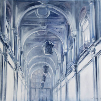 """Painting titled """"Hall"""" by Dita Luse, Original Art, Oil"""