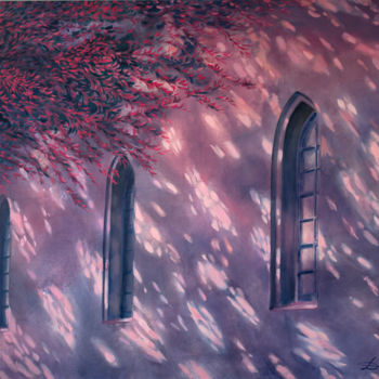 """Painting titled """"Pink light"""" by Dita Luse, Original Art, Oil"""