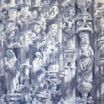 """Painting titled """"Queens"""" by Dita Luse, Original Art, Oil"""