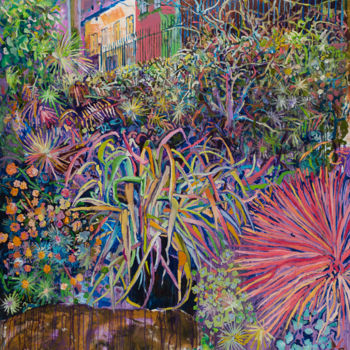 """Painting titled """"Botanique Hypnotique"""" by Dominic Virtosu, Original Art, Oil Mounted on Stretcher frame"""