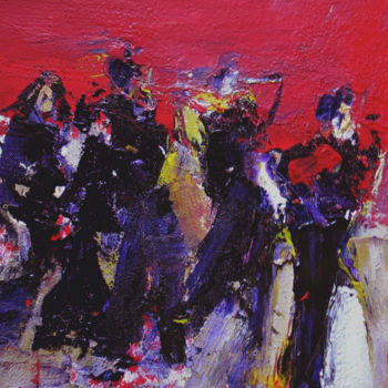 Painting, acrylic, expressionism, artwork by Jacques Donneaud