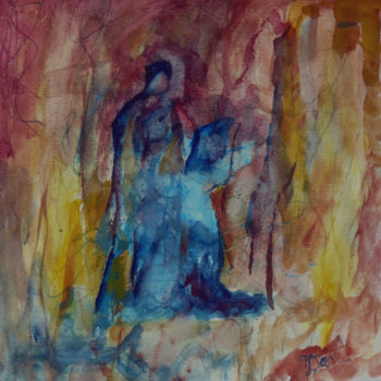 Painting, watercolor, figurative, artwork by Jacques Donneaud