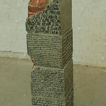 Sculpture, cement, artwork by Dorine Knecht