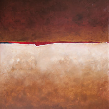 """Painting titled """"Red Sea"""" by Ulugbek Doschanov, Original Art, Oil"""