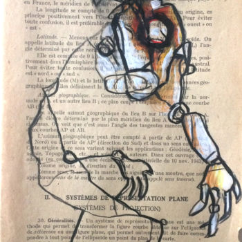 Drawing, pencil, outsider art, artwork by Doudoudidon