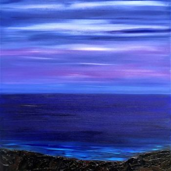Beach Painting, oil, expressionism, artwork by Dutch Montana