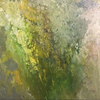 """Painting titled """"Lychen"""" by David Vall, Original Art, Acrylic"""