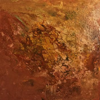 """Painting titled """"Rust Flow"""" by David Vall, Original Art, Acrylic"""