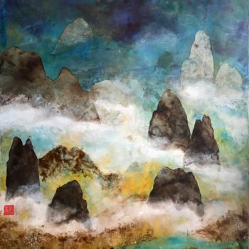 """Painting titled """"Abstract Shan Shui"""" by David Vall, Original Art, Acrylic"""