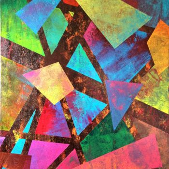 """Painting titled """"Shattered Glass"""" by David Vall, Original Art, Acrylic"""