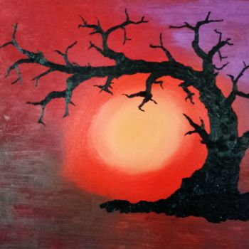 """Painting titled """"Dead Tree"""" by David Vall, Original Art, Oil"""